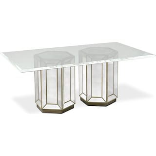 Reflection Rectangular Dining Table - Mirror