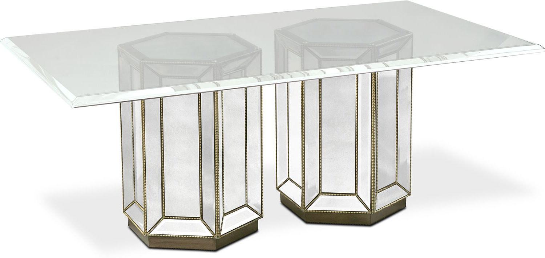 reflection rectangular dining table mirror