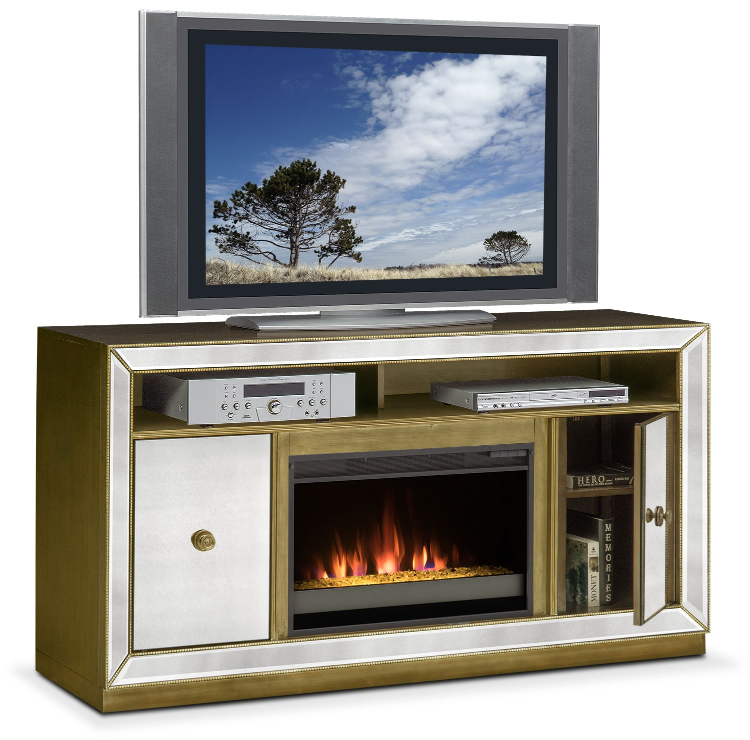entertainment furniture  reflection contemporary fireplace tv stand mirror hover to zoom. reflection contemporary fireplace tv stand  mirror  value city