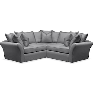 Allison 2 Pc. Sectional with Right Facing Loveseat- Comfort in Depalma Charcoal