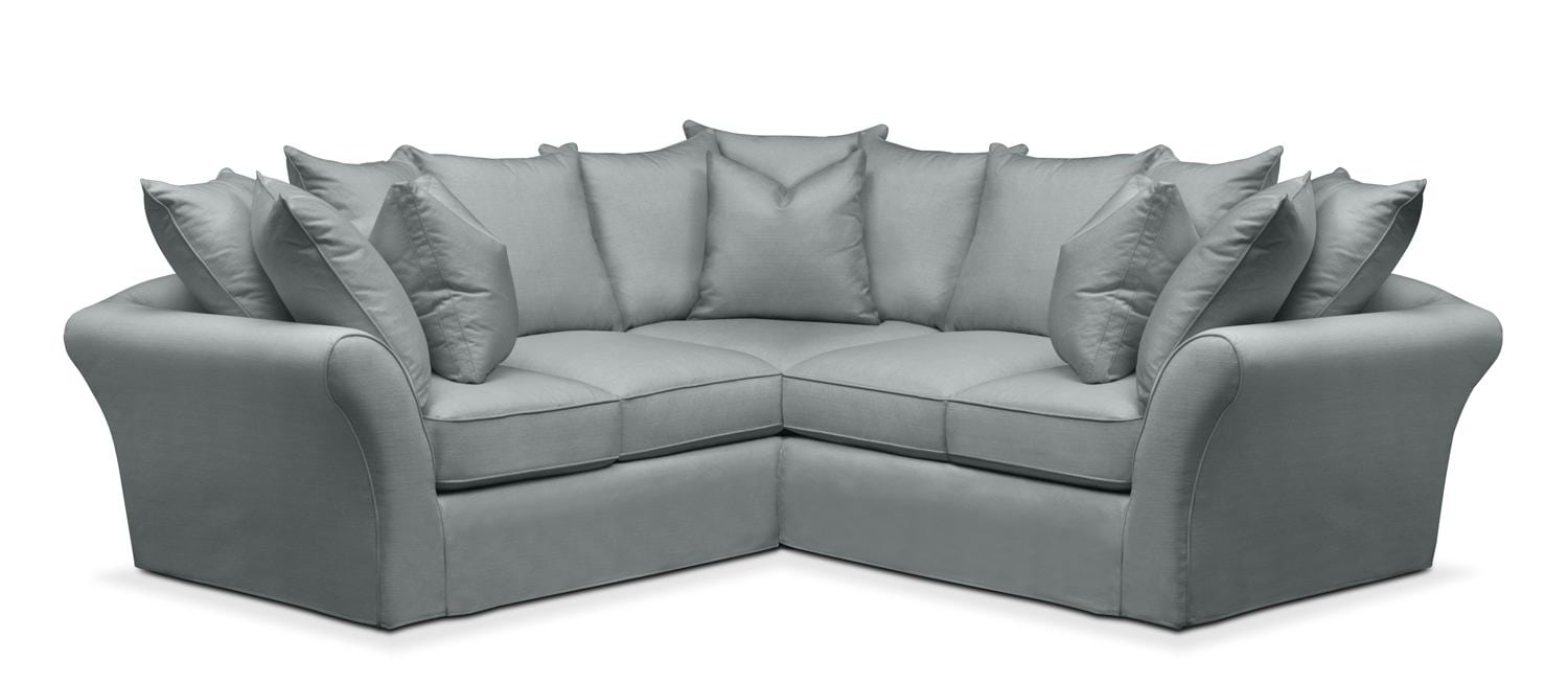Allison 2 Pc. Sectional With Right Facing Loveseat  Comfort In Abington TW  Seven Seas