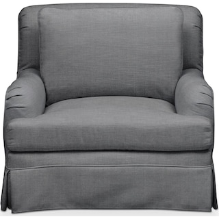 Campbell Chair- Comfort in Depalma Charcoal