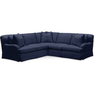 Campbell 2 Pc. Sectional with Right Arm Facing Loveseat- Cumulus in Oakley III Ink