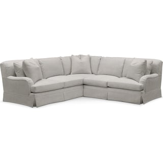 Campbell 2 Pc. Sectional with Right Arm Facing Loveseat- Cumulus in Dudley Gray