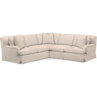 Campbell 2 Pc. Sectional with Right Arm Facing Loveseat- Cumulus in Dudley Buff