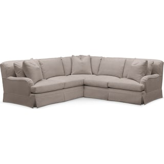 Campbell 2 Pc. Sectional with Right Arm Facing Loveseat- Cumulus in Abington TW Fog