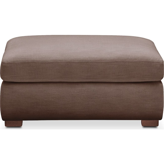 Living Room Furniture - Asher Ottoman- Comfort in Oakley III Java
