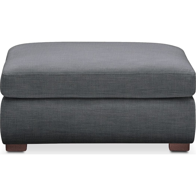Living Room Furniture - Asher Ottoman- Comfort in Milford II Charcoal