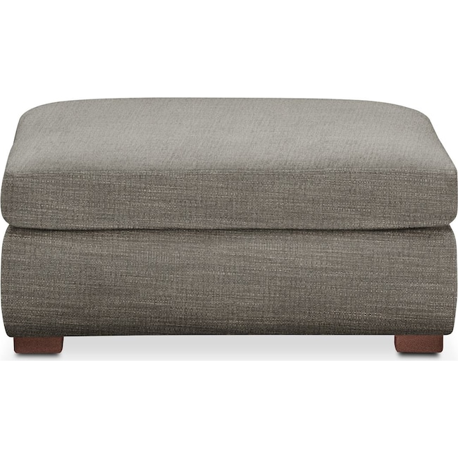 Living Room Furniture - Asher Ottoman- Comfort in Victory Smoke