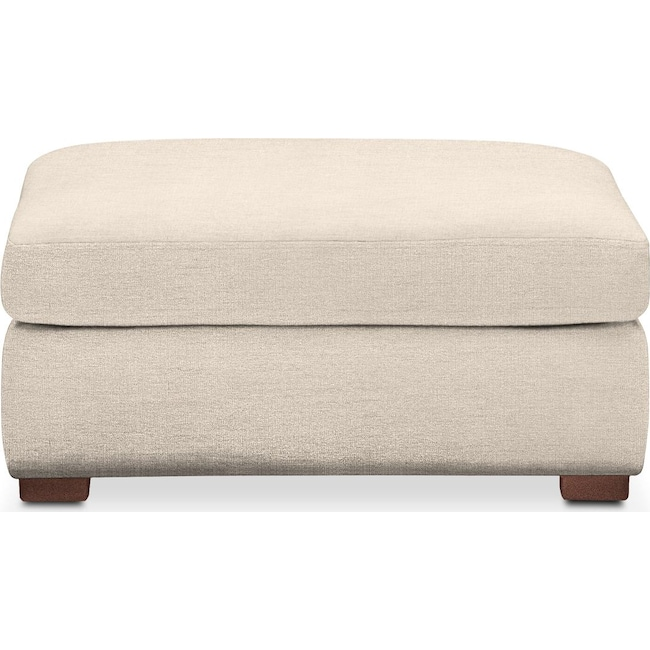 Living Room Furniture - Asher Ottoman- Comfort in Curious Pearl