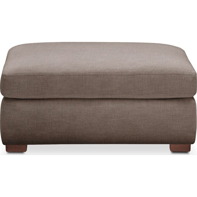 Living Room Furniture - Asher Ottoman- Comfort in Hugo Mocha