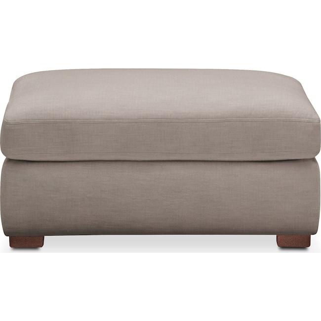 Living Room Furniture - Asher Ottoman- Comfort in Abington TW Fog