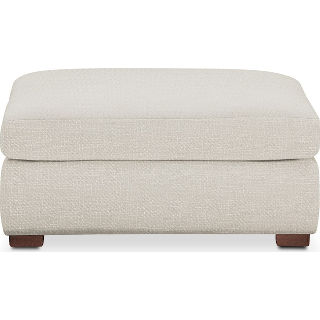 Living Room Furniture - Asher Ottoman- Comfort in Anders Ivory
