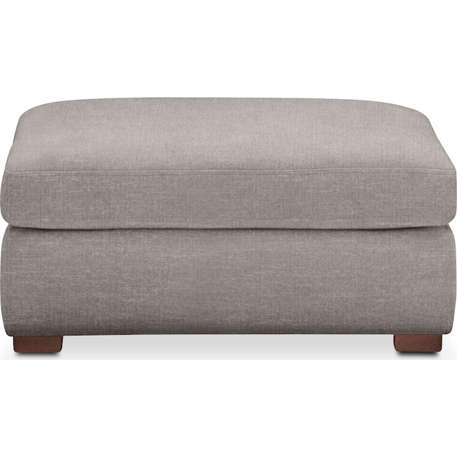 Accent and Occasional Furniture - Asher Ottoman- Cumulus in Curious Silver Rine
