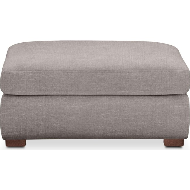 Living Room Furniture - Asher Ottoman- Cumulus in Curious Silver Rine