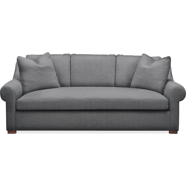 Living Room Furniture - Asher Sofa- Comfort in Depalma Charcoal