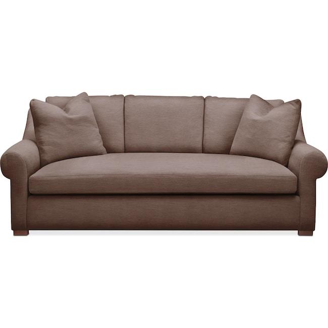 Living Room Furniture - Asher Sofa- Comfort in Oakley III Java
