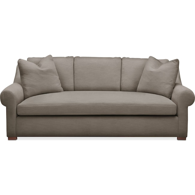Living Room Furniture - Asher Sofa- Comfort in Oakley III Granite