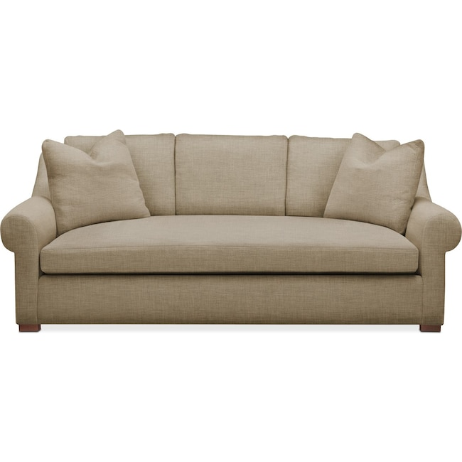 Living Room Furniture - Asher Sofa- Comfort in Milford II Toast