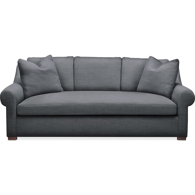 Living Room Furniture - Asher Sofa- Comfort in Milford II Charcoal