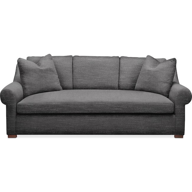 Living Room Furniture - Asher Sofa- Comfort in Curious Charcoal
