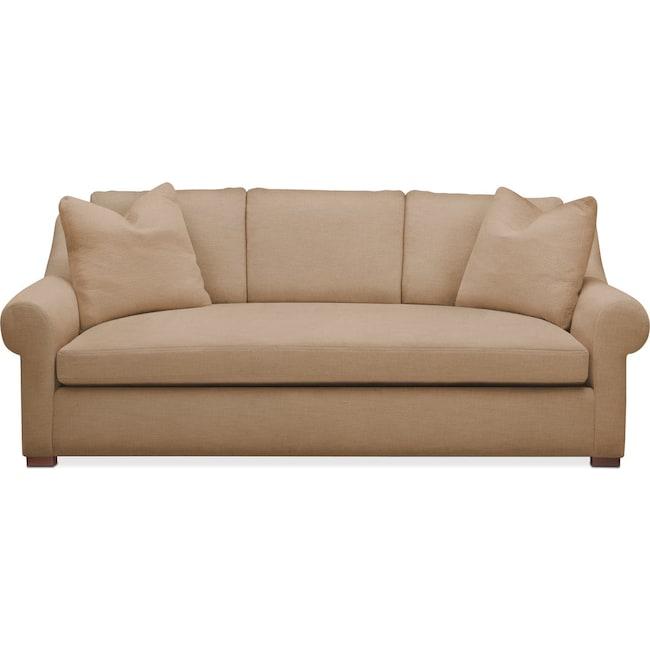 Living Room Furniture - Asher Sofa- Comfort in Hugo Camel