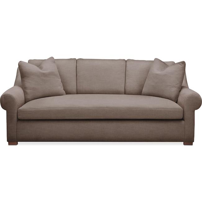 Living Room Furniture - Asher Sofa- Comfort in Hugo Mocha