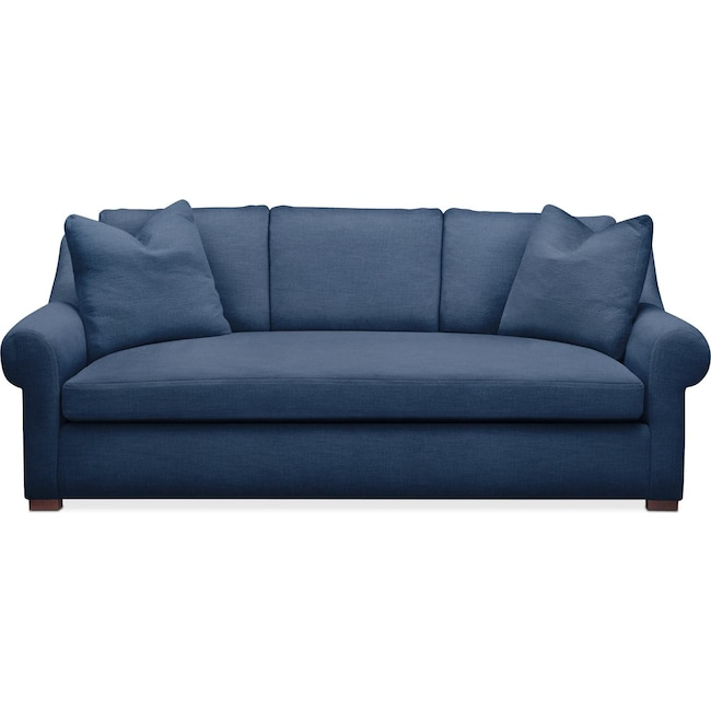 Living Room Furniture - Asher Sofa- Comfort in Hugo Indigo