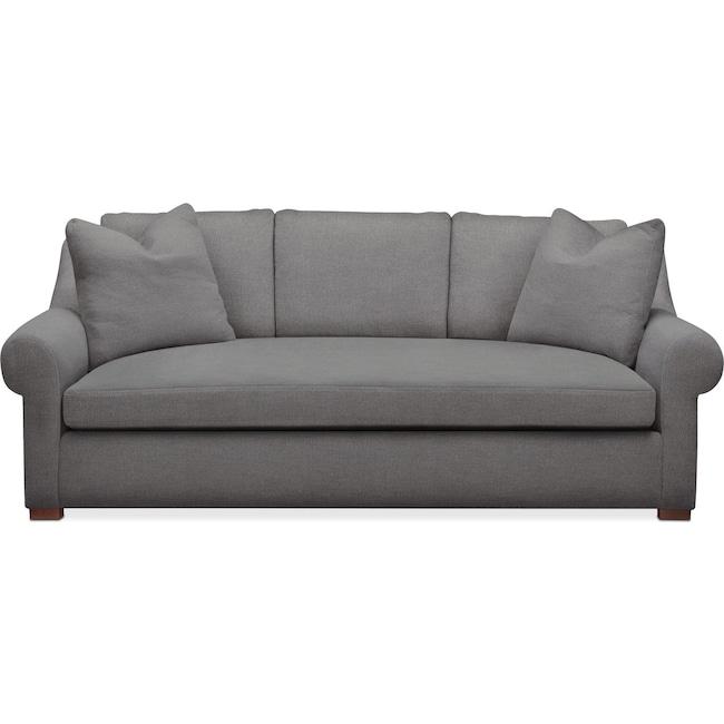 Living Room Furniture - Asher Sofa- Comfort in Hugo Graphite