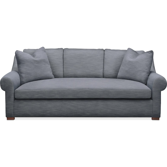 Living Room Furniture - Asher Sofa- Comfort in Dudley Indigo