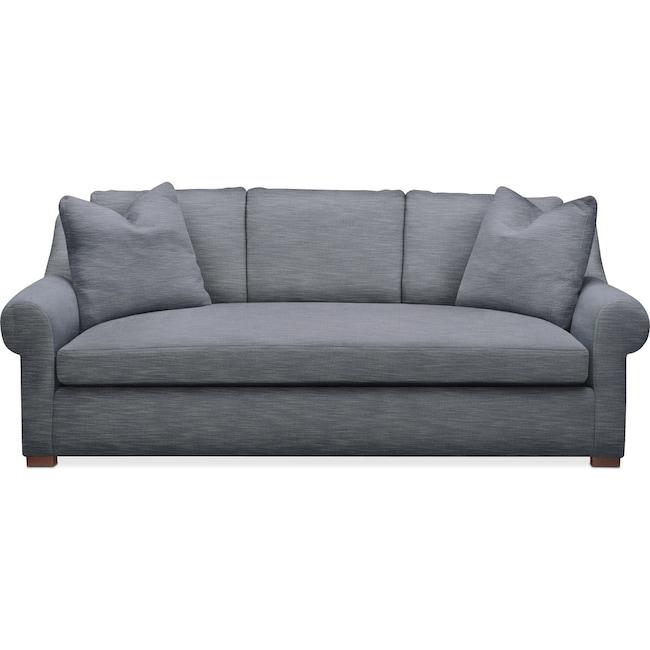 Living Room Furniture - Asher Sofa- Comfort in Dudley Indigo