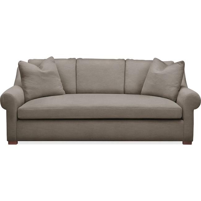 Living Room Furniture - Asher Sofa- Cumulus in Oakley III Granite