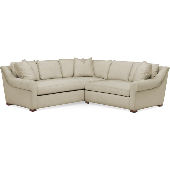 Living Room Furniture - Asher 2 Pc. Sectional with Right Arm Facing Loveseat- Comfort in Abington TW Barley