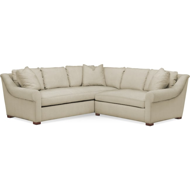 Living Room Furniture - Asher 2-Piece Sectional with Right-Facing Loveseat - Cumulus in Abington TW Barley