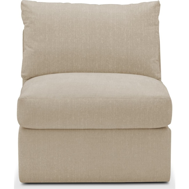Living Room Furniture - Collin Armless Chair- Comfort in Depalma Taupe