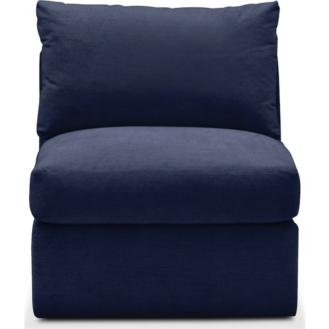 Living Room Furniture - Collin Armless Chair- Comfort in Oakley III Ink