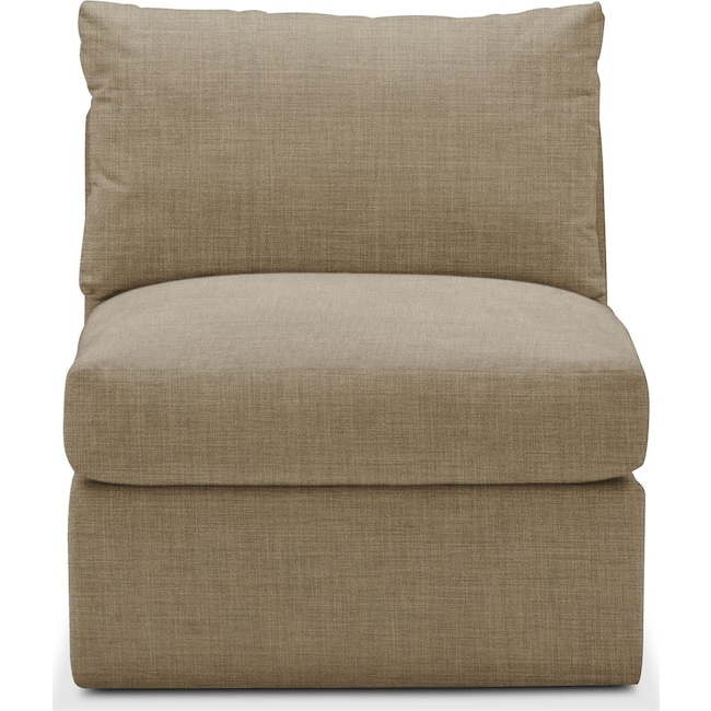 Living Room Furniture - Collin Armless Chair- Comfort in Milford II Toast