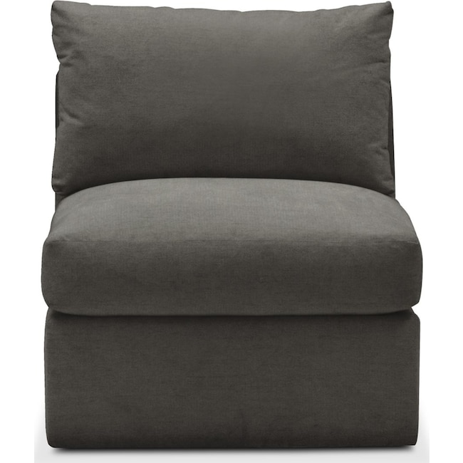 Living Room Furniture - Collin Armless Chair- Comfort in Statley L Sterling