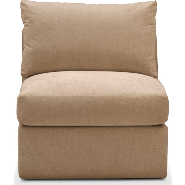 Living Room Furniture - Collin Armless Chair- Comfort in Hugo Camel