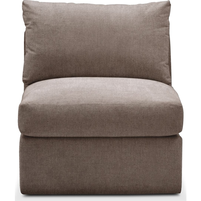Living Room Furniture - Collin Armless Chair- Comfort in Hugo Mocha