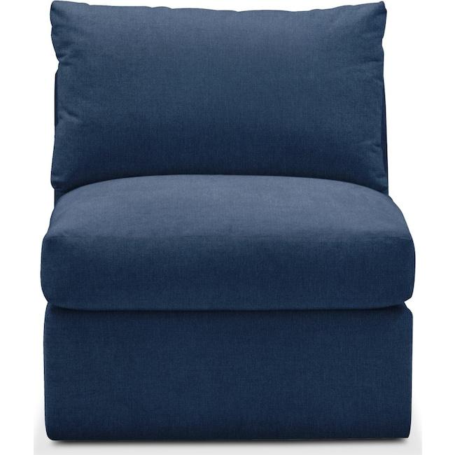 Living Room Furniture - Collin Armless Chair- Comfort in Hugo Indigo