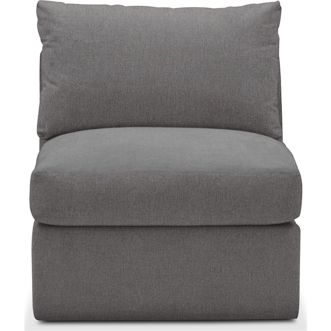 Living Room Furniture - Collin Armless Chair- Comfort in Hugo Graphite