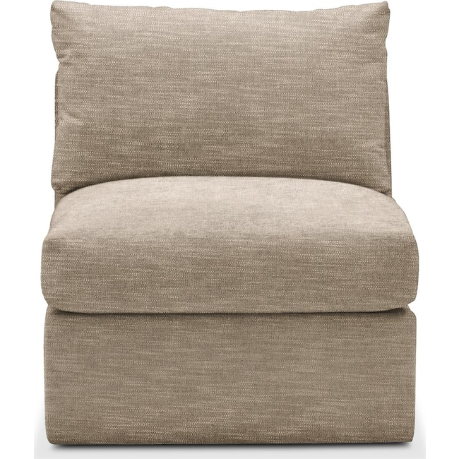 Living Room Furniture - Collin Armless Chair- Comfort in Dudley Burlap