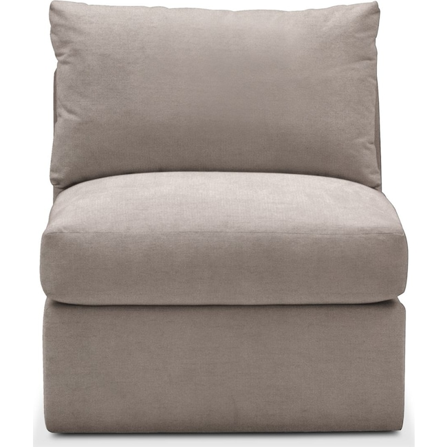 Living Room Furniture - Collin Armless Chair- Comfort in Abington TW Fog