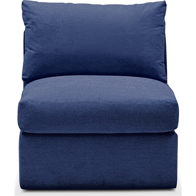 Living Room Furniture - Collin Armless Chair- Comfort in Abington TW Indigo