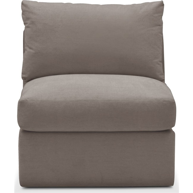 Living Room Furniture - Collin Armless Chair- Cumulus in Oakley III Granite