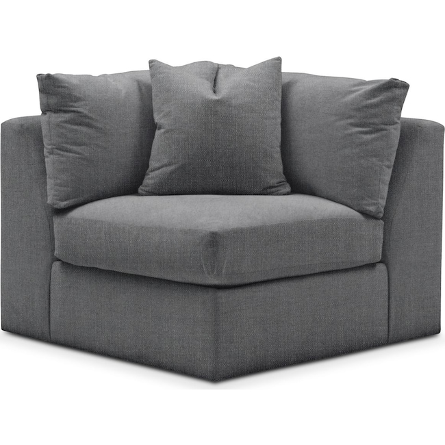Living Room Furniture - Collin Corner Chair- Comfort in Depalma Charcoal