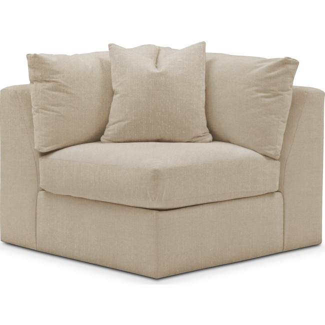 Living Room Furniture - Collin Corner Chair- Comfort in Depalma Taupe