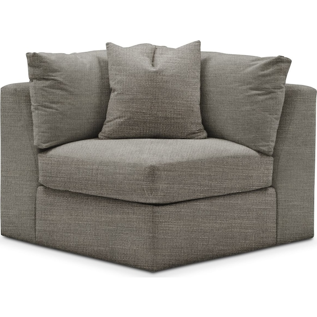 Living Room Furniture - Collin Corner Chair- Comfort in Victory Smoke