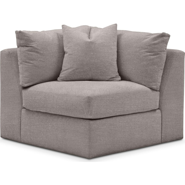 Living Room Furniture - Collin Corner Chair- Comfort in Curious Silver Rine